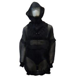 N0218 Blusão capuz (preto)a