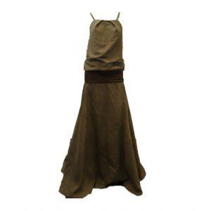 N1318 a vestido casual verde